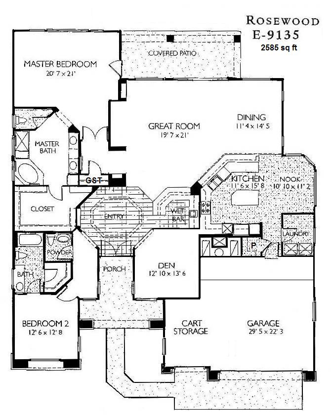 Sun city grand floor plans jos e marie plant pllc gri for Rosewood house plan